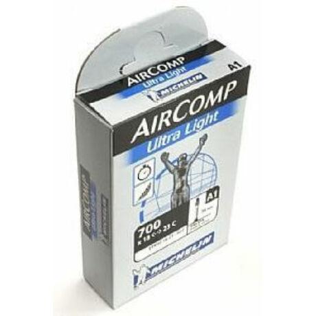 Michelin AirComp UltraLight A1 622 x 18/23 (700c) országúti belső gumi 36 mm hosszú szeleppel, 75g, presta