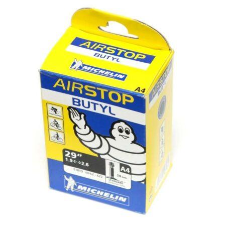 Michelin Airstop 29 x 1,9-2,6 (48/62-622) belső gumi 34 mm hosszú szeleppel, 226 g, autós