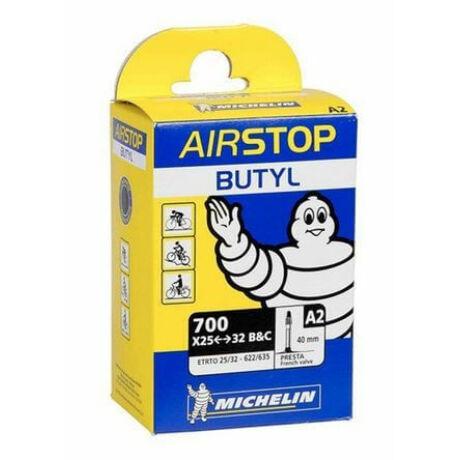 Michelin Airstop A2 622 x 25/32 (700c) sport trekking, cross belső gumi 40 mm hosszú szeleppel, 128g, presta