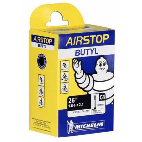 Michelin Airstop C4 26 x 1,5-2,2 (37/62-559) MTB belső gumi 40 mm hosszú szeleppel, presta