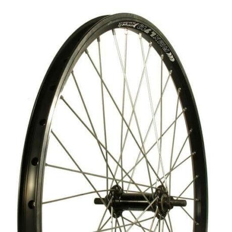 Remerx - Assess 24-es (507 mm) első kerék, csavaros tengellyel, fekete