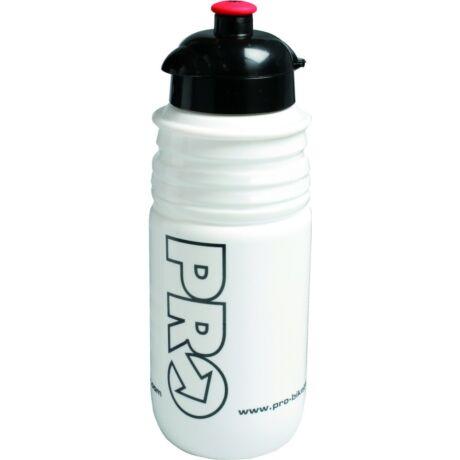 PRO Bidon műanyag kulacs, 550 ml, csavaros, fehér