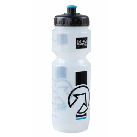 PRO Team műanyag kulacs, 800 ml, csavaros, átlátszó-fekete