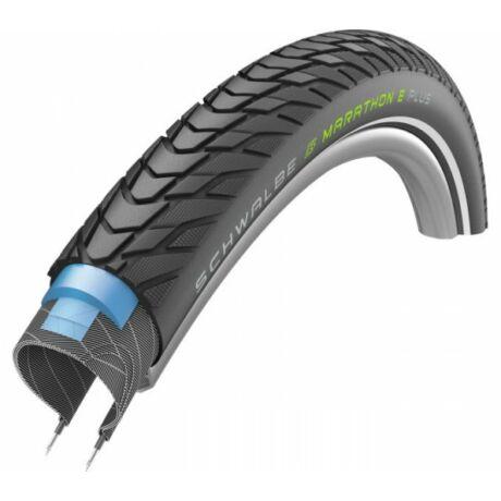 Schwalbe Marathon E-Plus HS498 28-29x1,75 (47-622) trekking külső gumi (köpeny), defektvédett (Smart DualGuard) reflexcsíkos, Addix E, E50, 1150g