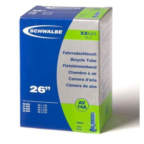 Schwalbe AV14A XXLight 26 x 1,5-2,1 (40/54-559) MTB belső gumi 40 mm hosszú szeleppel, 95 g, autós