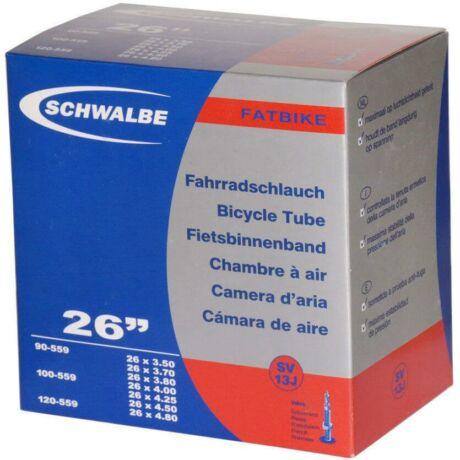 Schwalbe SV13J 26 x 3,5-4,8 (90/120-559) fatbike belső gumi 40 mm hosszú bontható szeleppel, 390 g, presta
