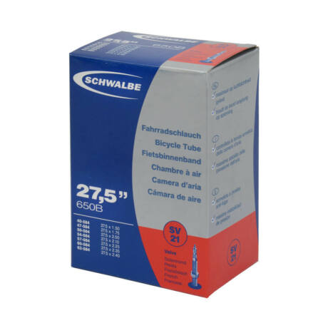 Schwalbe SV21 27,5 x 1,5-2,4 (40/62-584) MTB belső gumi 40 mm hosszú bontható szeleppel, 205 g, presta