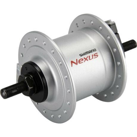 Shimano Nexus DH-C3000-1N dinamós első kerékagy (agydinamó), 36H, csavaros, felnifékes, 6V, 1,5W, ezüst