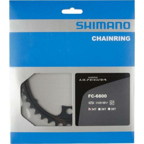 Shimano Ultegra FC-6800 4 karos országúti első lánckerék, 34T, 110 mm, 11s, alumínium, fekete
