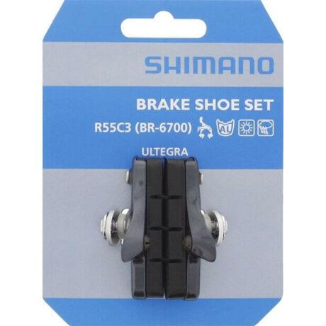 Shimano R55C3 cserélhető betétes országúti fékpofa, 55 mm, szürke