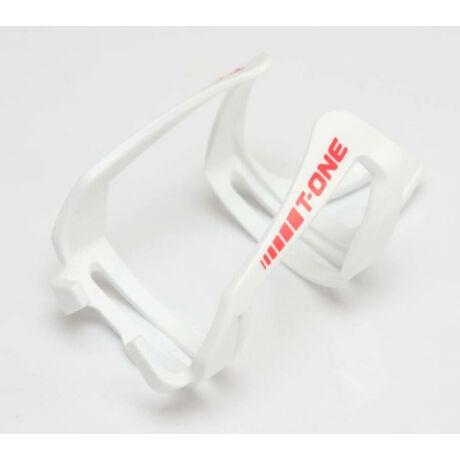 T-One Hard Plastic üvegszálas műanyag kulacstartó, elforgatható, fehér
