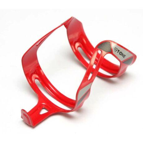T-One alumínium kulacstartó, elforgatható, piros