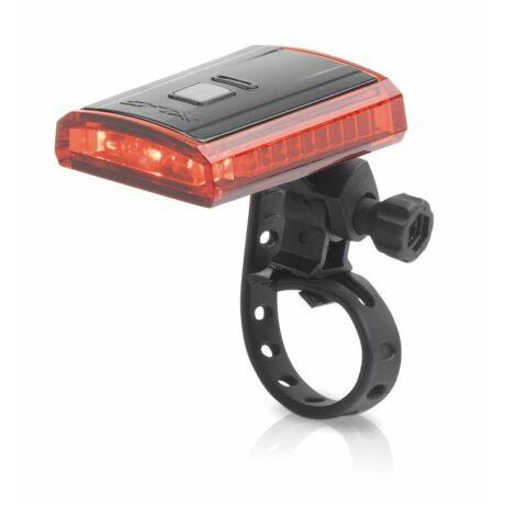 XLC CL-R16 Titania USB-ről tölthető hátsó lámpa nyeregcsőre, 3 LED