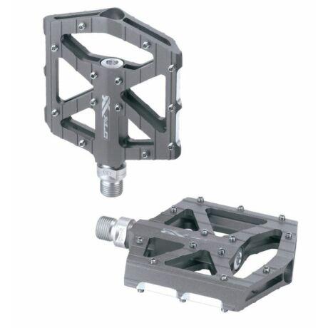 XLC PD-M12 alumínium platform pedál, ipari csapágyas, cserélhető szegecsekkel, titán színű