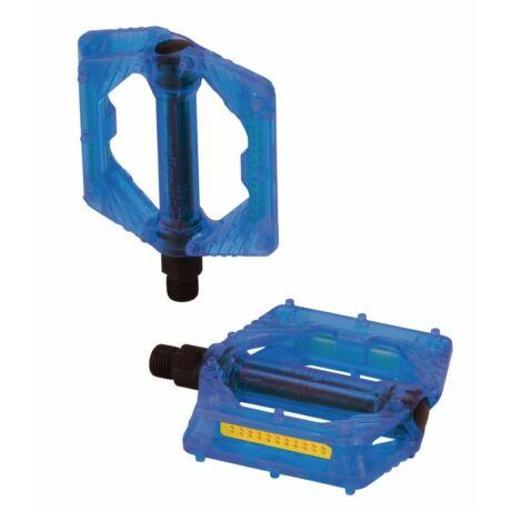 XLC PD-M16 műanyag platform pedál, átlátszó kék
