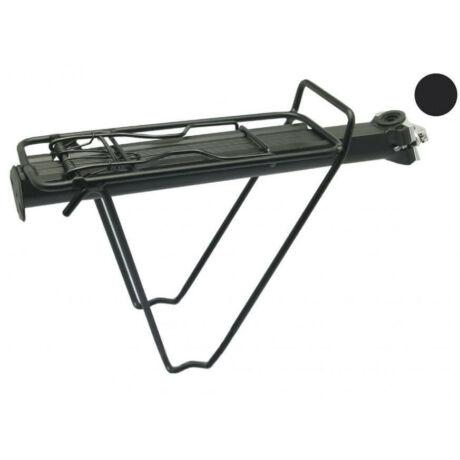 XLC RP-R07 gyorszáras hátsó csomagtartó nyeregcsőre, 25,4-31,8 mm, alumínium, fekete