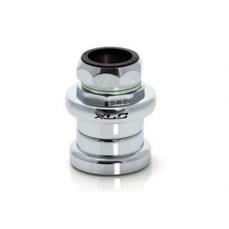 XLC HS-S01 1 colos menetes külső csészés kormánycsapágy  1/8-ot fogadó vázakhoz, golyóskosaras, acél csészés, ezüst