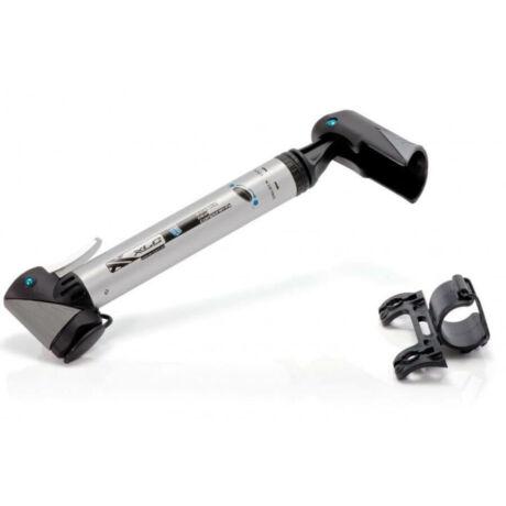 XLC PU-T02 műanyag minipumpa, 6 bar, minden szeleptípushoz, ezüst