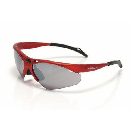 XLC SG-C02 Tahiti kerékpáros sportszemüveg, cserélhető lencsés, piros, 3 lencsével