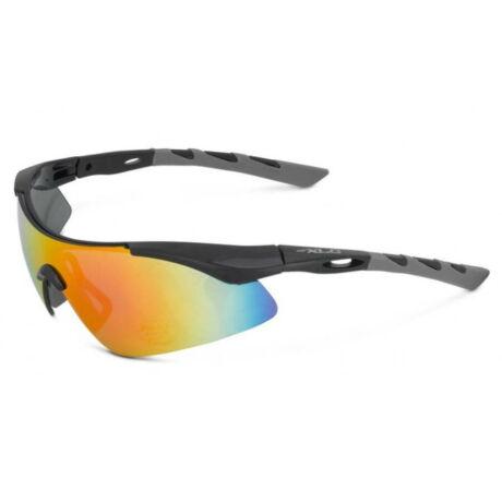 XLC SG-C09 Komodo kerékpáros sportszemüveg, fekete-szürke