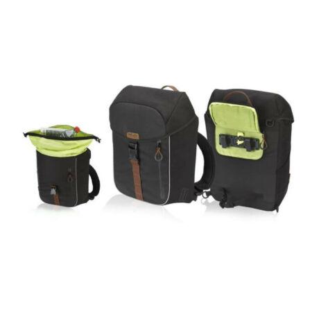 XLC BA-W31 egy részes csomagtartó táska jobb vagy bal oldalra, 16L, fekete-barna