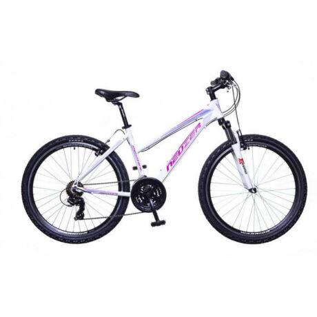 Neuzer Mistral 30 női hobbi 26-os MTB kerékpár, 21s., teleszkópos, alumínium, 19-es vázméret, fehér-pink-lila