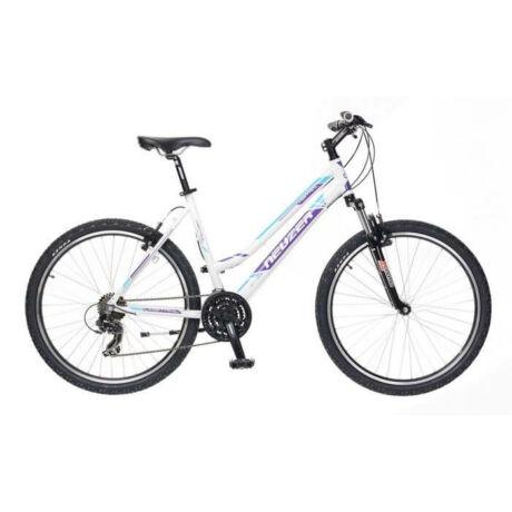 Neuzer Mistral 50 női hobbi 26-os MTB kerékpár, 21s., alumínium, 17-es vázméret, fehér-lila-cián