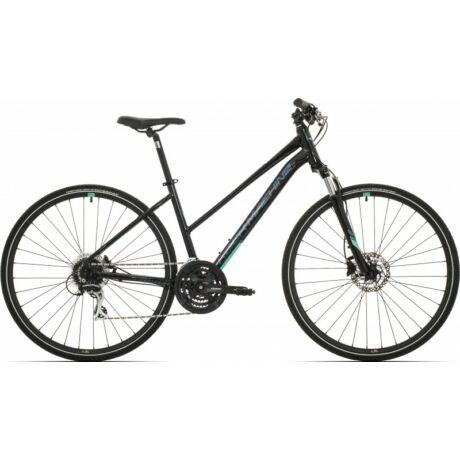 Rock Machine CrossRide 300 Lady 2019 28-as női krossz kerékpár, alumínium, 24s, 17-es vázméret, fekete-zöld-szürke