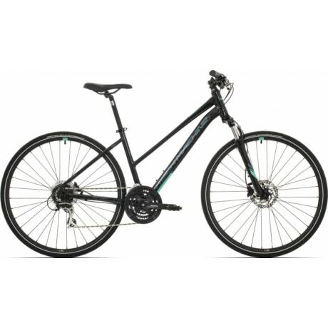 Rock Machine CrossRide 300 Lady 2019 28-as női krossz kerékpár, alumínium, 24s, 19-es vázméret, fekete-zöld-szürke