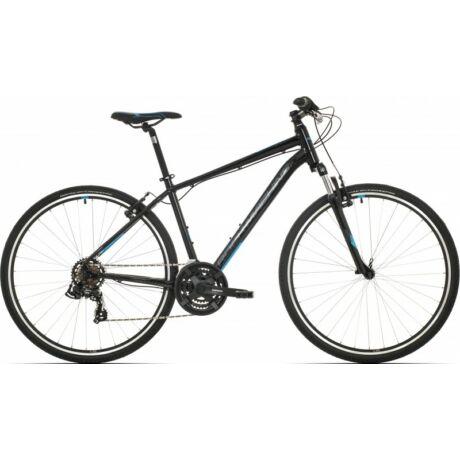 Rock Machine CrossRide 75 2019 28-as férfi krossz kerékpár, alumínium, 21s, 20-as vázméret, fekete-kék-szürke