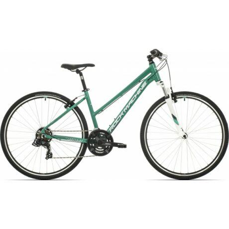 Rock Machine CrossRide 75 Lady 2019 28-as női krossz kerékpár, alumínium, 21s, 19-es vázméret, zöld-fehér-szürke