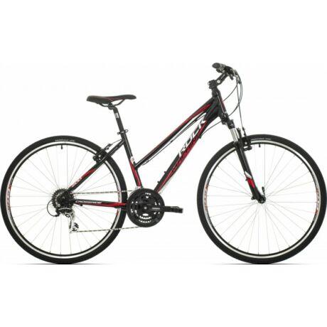 Rock Machine CrossRide Lady 200 28-as női krossz kerékpár, alumínium, 24s, 17-es vázméret, fekete-fehér-piros