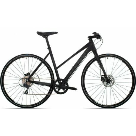 Rock Machine Blackout 40 Lady 2016 28-as női krossz kerékpár, alumínium, 8s, 53 cm-es vázméret, matt fekete