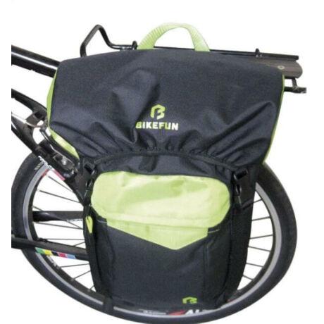Bikefun Vario egy részes táska csomagtartóra, hátizsákká alakítható, 12L, fekete-zöld