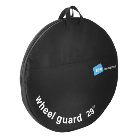 """Kerék szállító táska extra erős szakítás-álló nylon anyagból, mosható belsővel. - zip-záros zárás - két felső fül a hordozáshoz Méret: 29"""" kerékhez Átmérő: 74,5 cm Szélesség: 5cm Szín: fekete"""