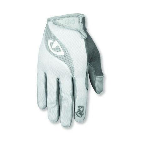 Giro Tessa hosszú ujjú kerékpáros női kesztyű, fehér, L
