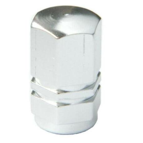 Hatszögletű alumínium szelepsapka, autó szelepes, ezüst