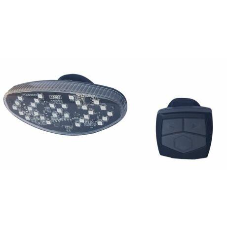 Velotech Index USB-ről tölthető irányjelzős hátsó lámpa, vezeték nélküli vezérléssel, nyeregcsőre