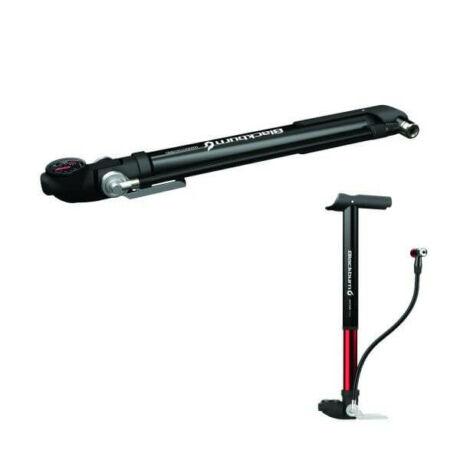 Blackburn Wayside Hybrid hordozható, nyomásmérős pumpa, 8 bar, minden szeleptípushoz, fekete