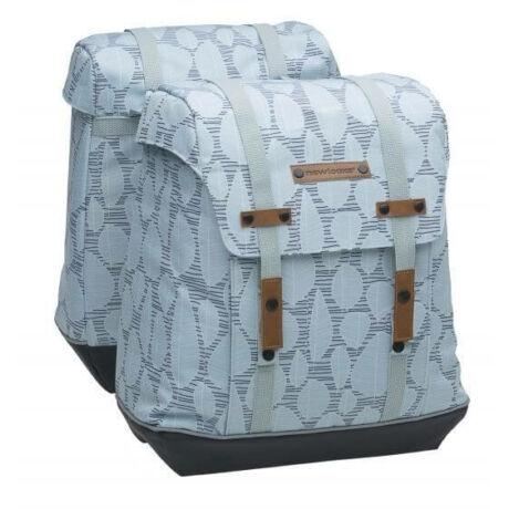 NewLooxs Alba Double Folla Green Grey két részes táska csomagtartóra, 34L, levél mintás, zöld-szürke