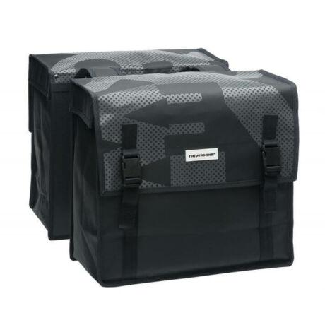 NewLooxs Alba Double Folla Beige két részes táska csomagtartóra, 34L, levél mintás, bézs
