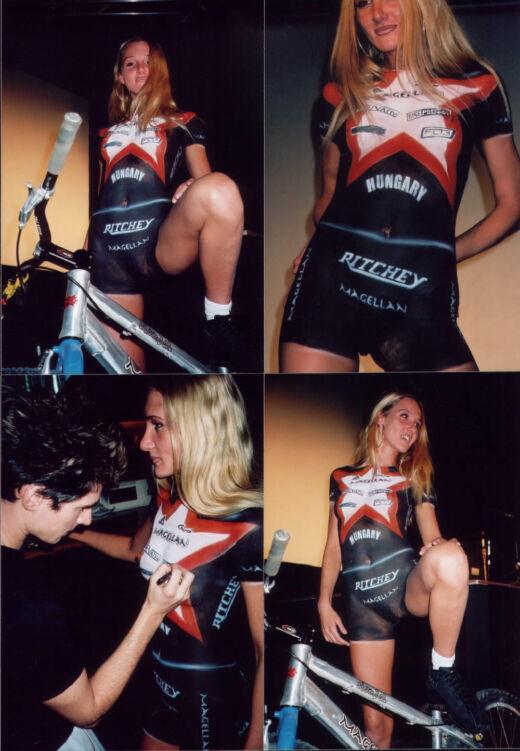 Testfestés kerékpárral