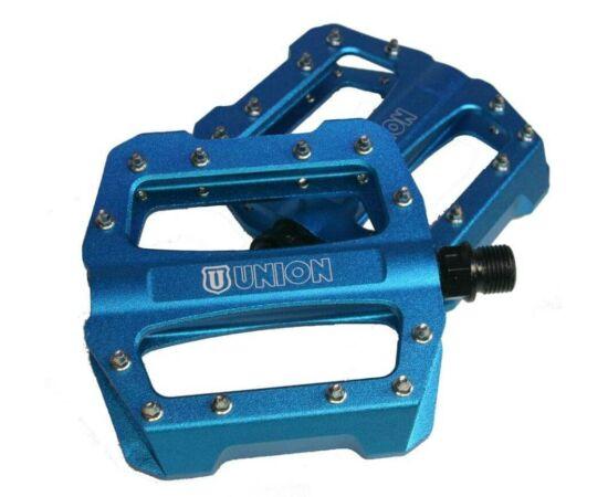 Union SP-1300 ipari csapágyas alumínium platform pedál, cserélhető tüskékkel, kék