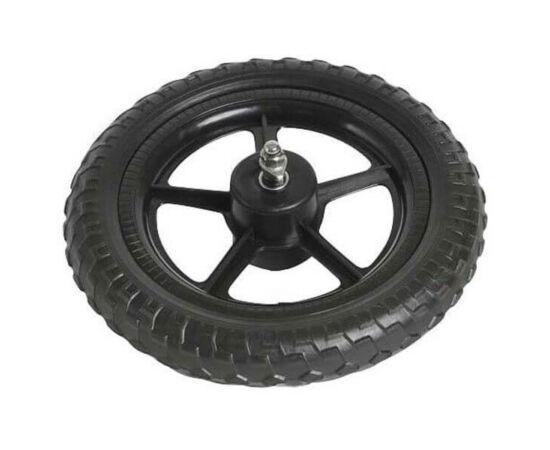 Velotech 12 colos  komplett műanyag kerék, tömör külső gumival
