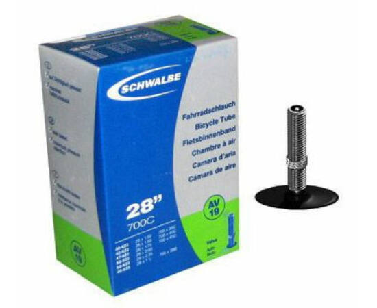Schwalbe AV19 27,5/29 x 2,1/2,4 (40/62-584/622) MTB belső gumi 40 mm hosszú szeleppel, 220 g, autós