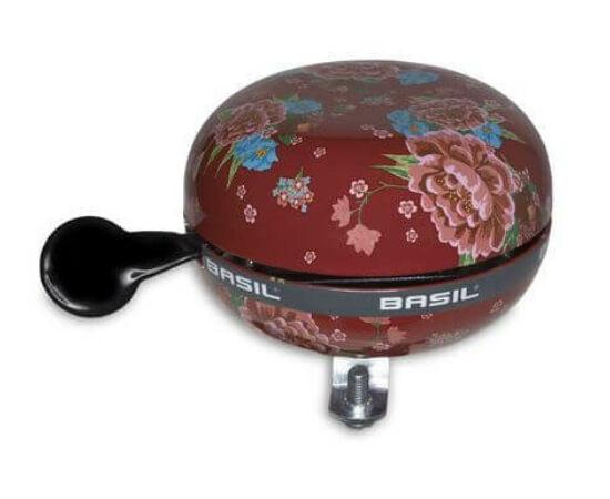 Basil acél csengő, 80 mm, piros - virágos