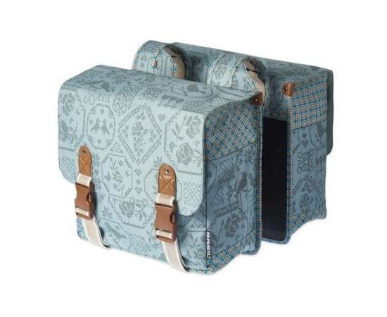Basil Boheme két részes táska csomagtartóra, 35L, világoskék