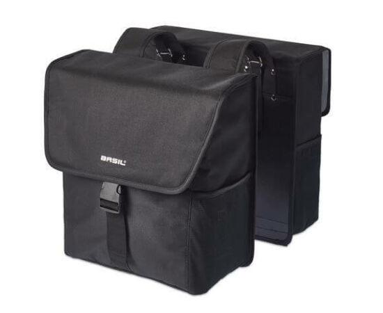 Basil Go két részes részes csomagtartó táska, 32L, fekete