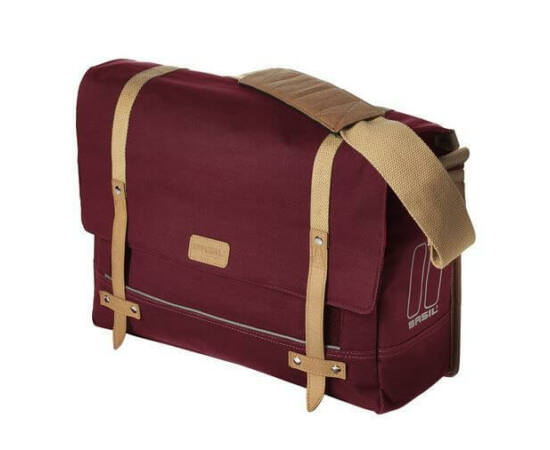 Basil Portland Messenger egy részes táska csomagtartóra, 20L, piros