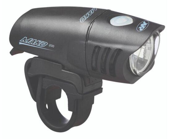 NiteRider Mako™ 200 első lámpa, 200 lumen, elemes, fekete